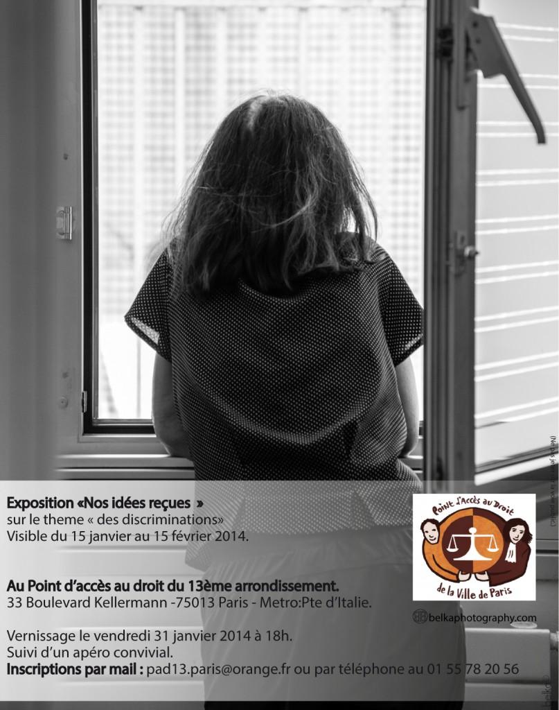 vernissage Flyer exposition participative avec belka© photographe PAD-13-Vernissage. Nos idees reçues. 2014. Luttes contre les discriminations.